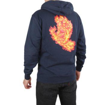 Santa Cruz Flame Hand Pullover Hoodie - Dark Navy