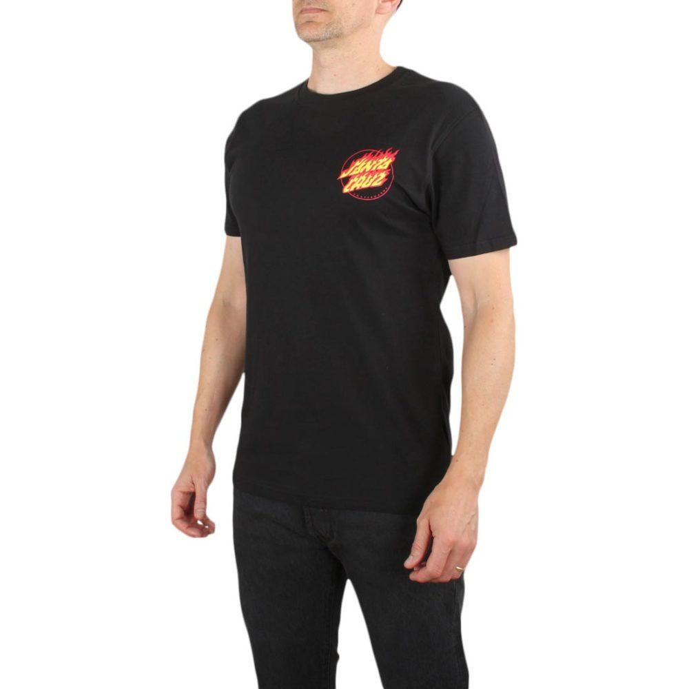 Santa Cruz Flame Hand S/S T-Shirt - Black