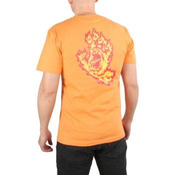Santa Cruz Flame Hand S/S T-Shirt - Tangerine