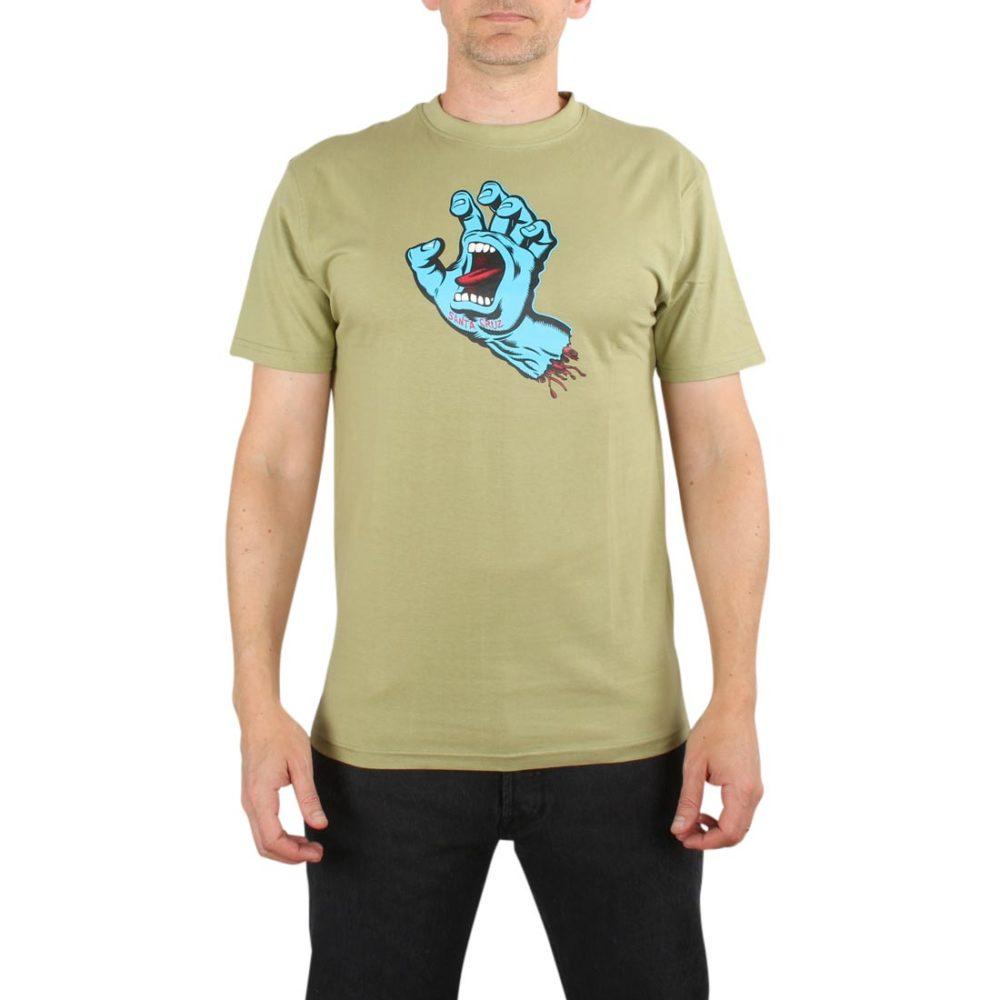 Santa Cruz Screaming Hand S/S T-Shirt - Sage