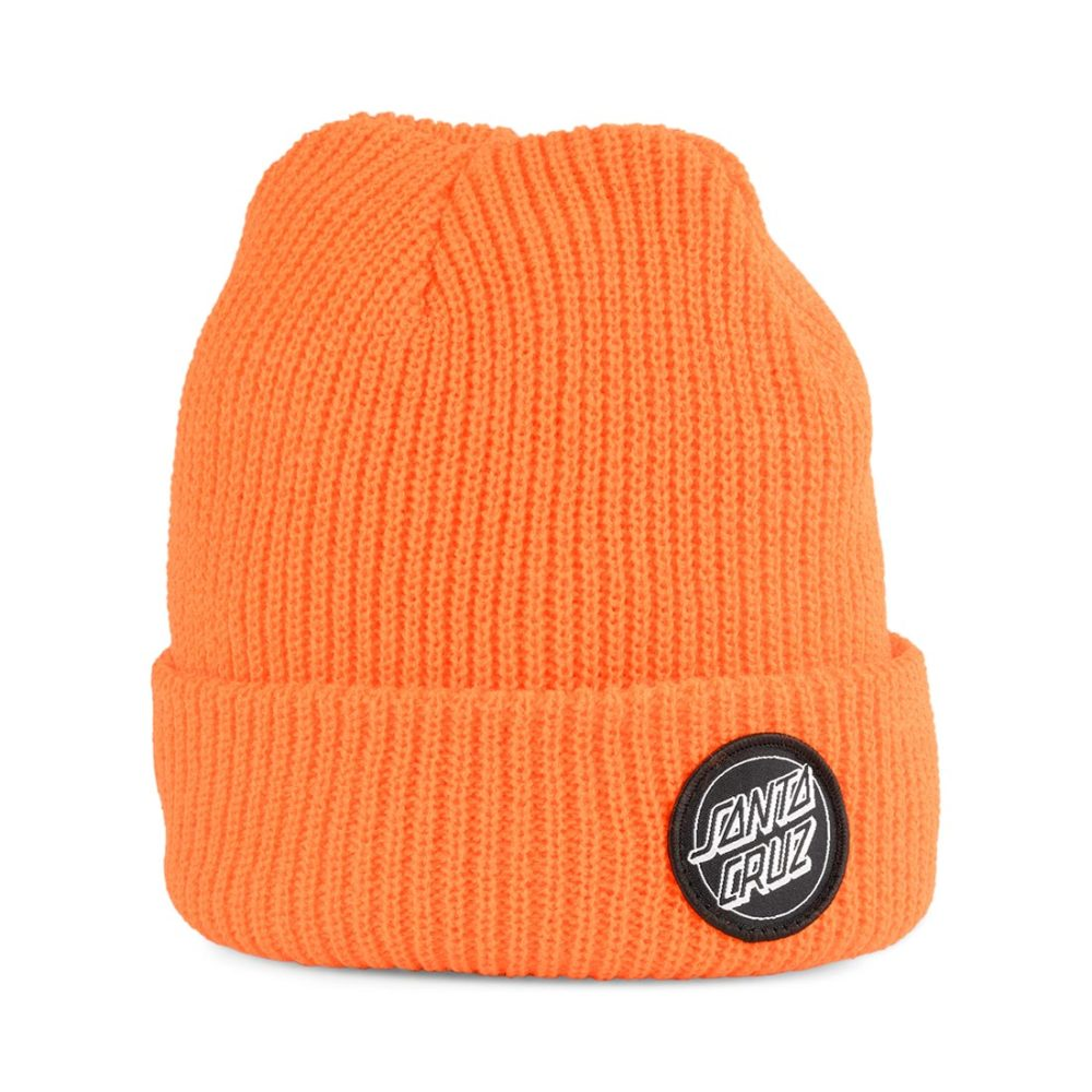 Santa Cruz Outline Dot Beanie Fluro Orange