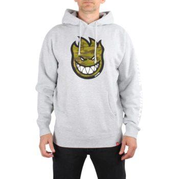 Spitfire Bighead Fill Hombre Hoodie - Grey Heather / Camo