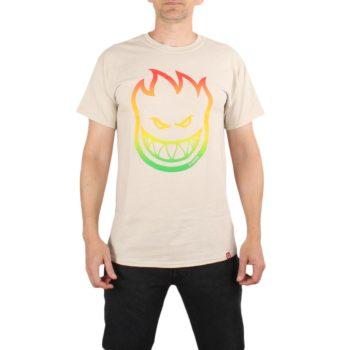 Spitfire Bighead OI Fill S/S T-Shirt - Sand / Rasta Fade