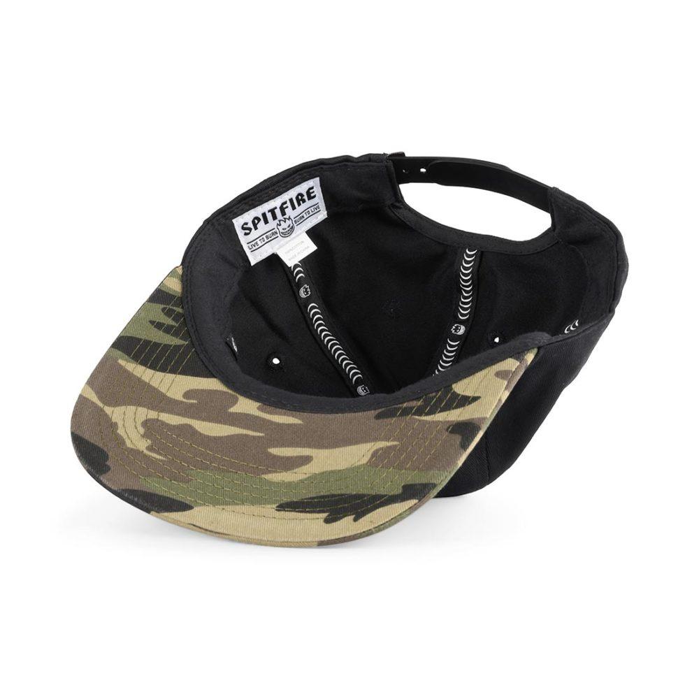 Spitfire Bighead Unstructured Snapback Cap - Black / Camo / Dark Green