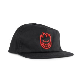 Spitfire Bighead Unstructured Snapback Cap - Black / Red