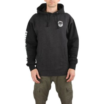 Spitfire Lil Bighead Hombre Hoodie - Charcoal Heather / Black / White