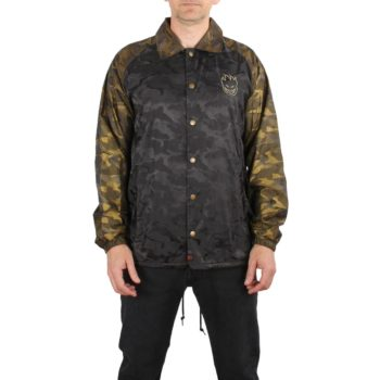 Spitfire Stock Bighead Emb Coach Jacket - Black / Gold Camo
