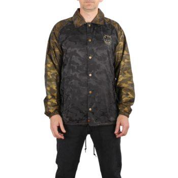 Spitfire Stock Bighead Emb Coach Jacket - Black / Gold Camo