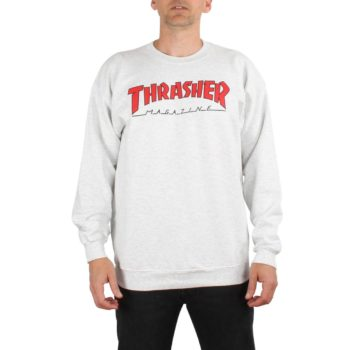 Thrasher Outlined Crew Sweater - Ash Grey
