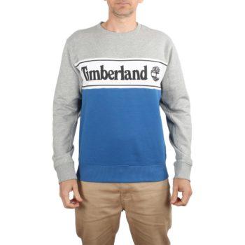 Timberland Linear Crew Sweater - Grey Heather / Yale Blue