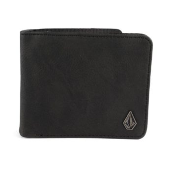 Volcom 3 In 1 Leather Wallet - New Black