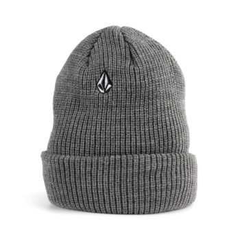 Volcom Full Stone Beanie Hat - Heather Grey