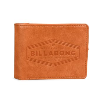 Billabong Walled PU Leather Wallet – Tan
