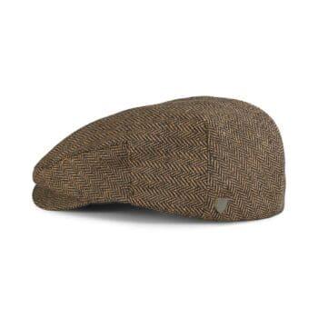 Brixton Hooligan Snap Flat Cap - Brown / Khaki