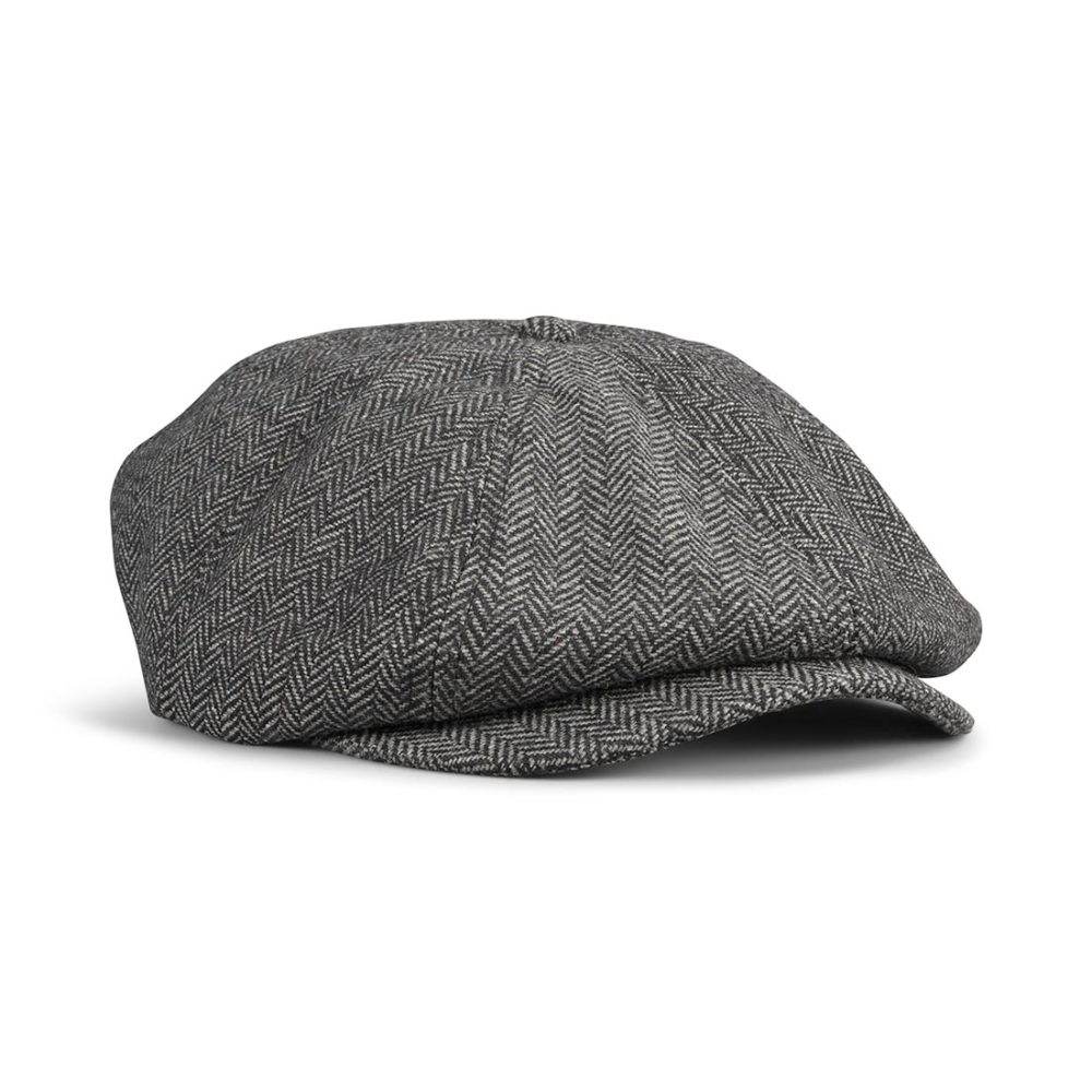 Brixton Brood Snap Cap - Grey / Black