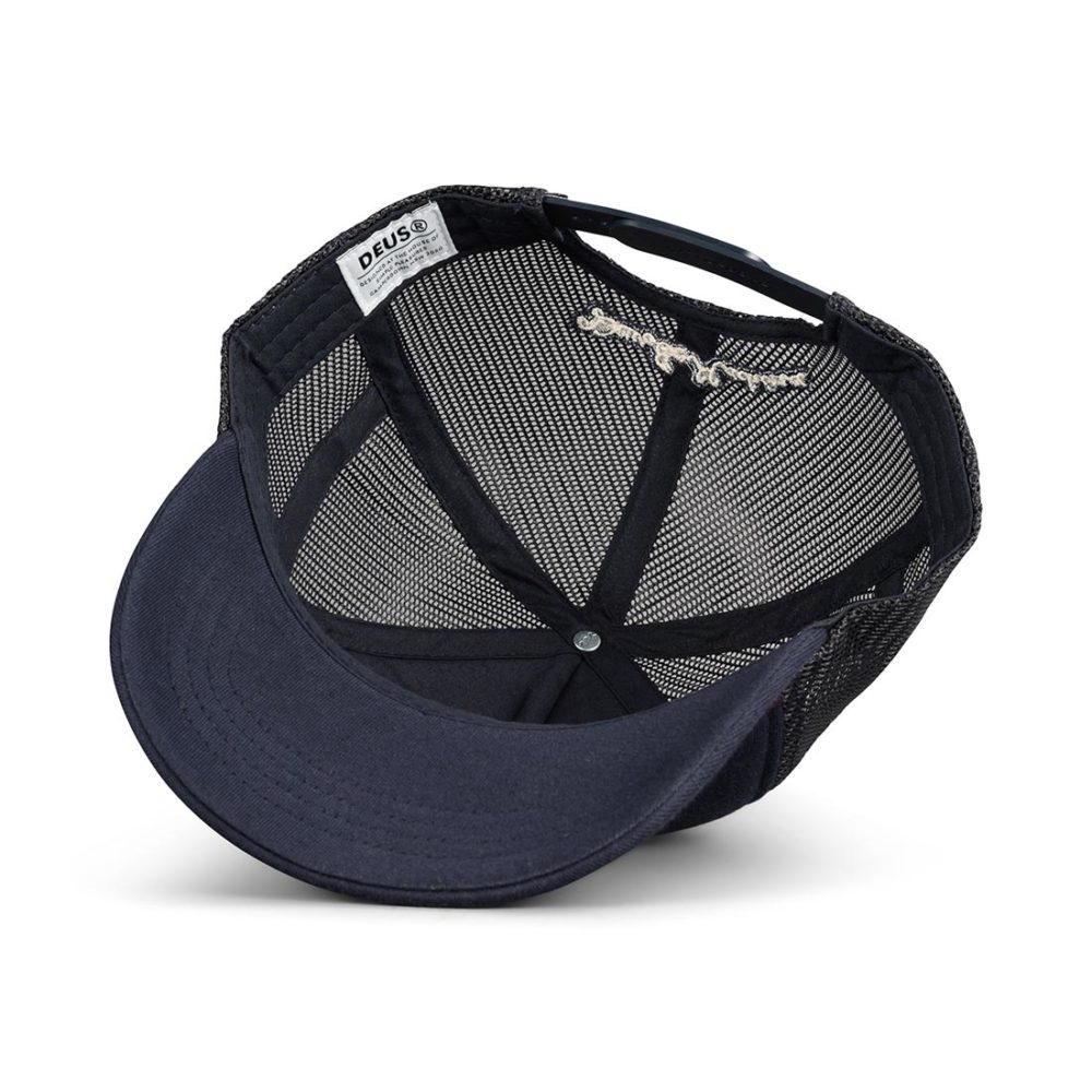 Deus Ex Machina Austin Canggu Mesh Back Trucker Cap - Midnight Blue