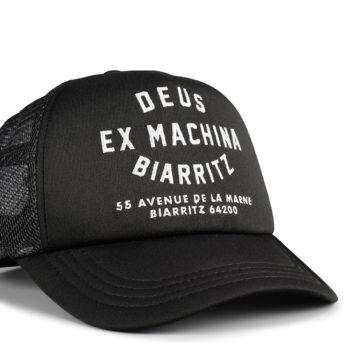 Deus Ex Machina Biarritz Address Mesh Back Trucker Cap - Black