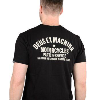 Deus Ex Machina Biarritz Address (Shield) T-Shirt - Black