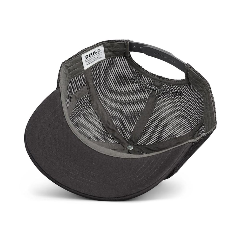 Deus Ex Machina Terry Shield Mesh Back Trucker Cap - Charcoal Grey