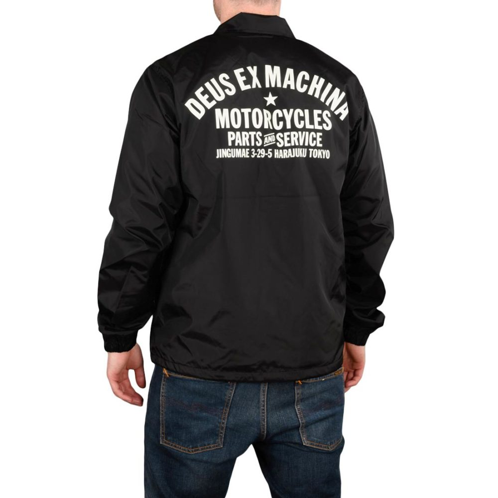Deus Ex Machina Tokyo Address Coach Jacket - Black