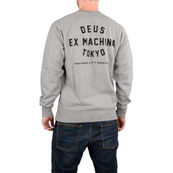 Deus Ex Machina Tokyo Address Crew Sweater - Grey Marle