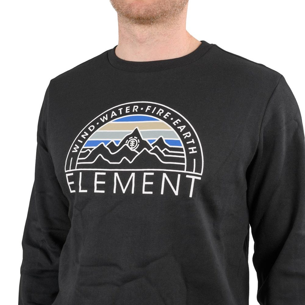 Element Odyssey Crew Sweater – Flint Black