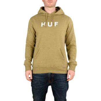 HUF Essentials OG Logo Pullover Hoodie - Dried Herb