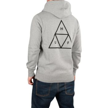HUF Essentials Triple Triangle Pullover Hoodie - Grey Heather