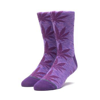 HUF Melange Plantlife Crew Socks - Purple Velvet