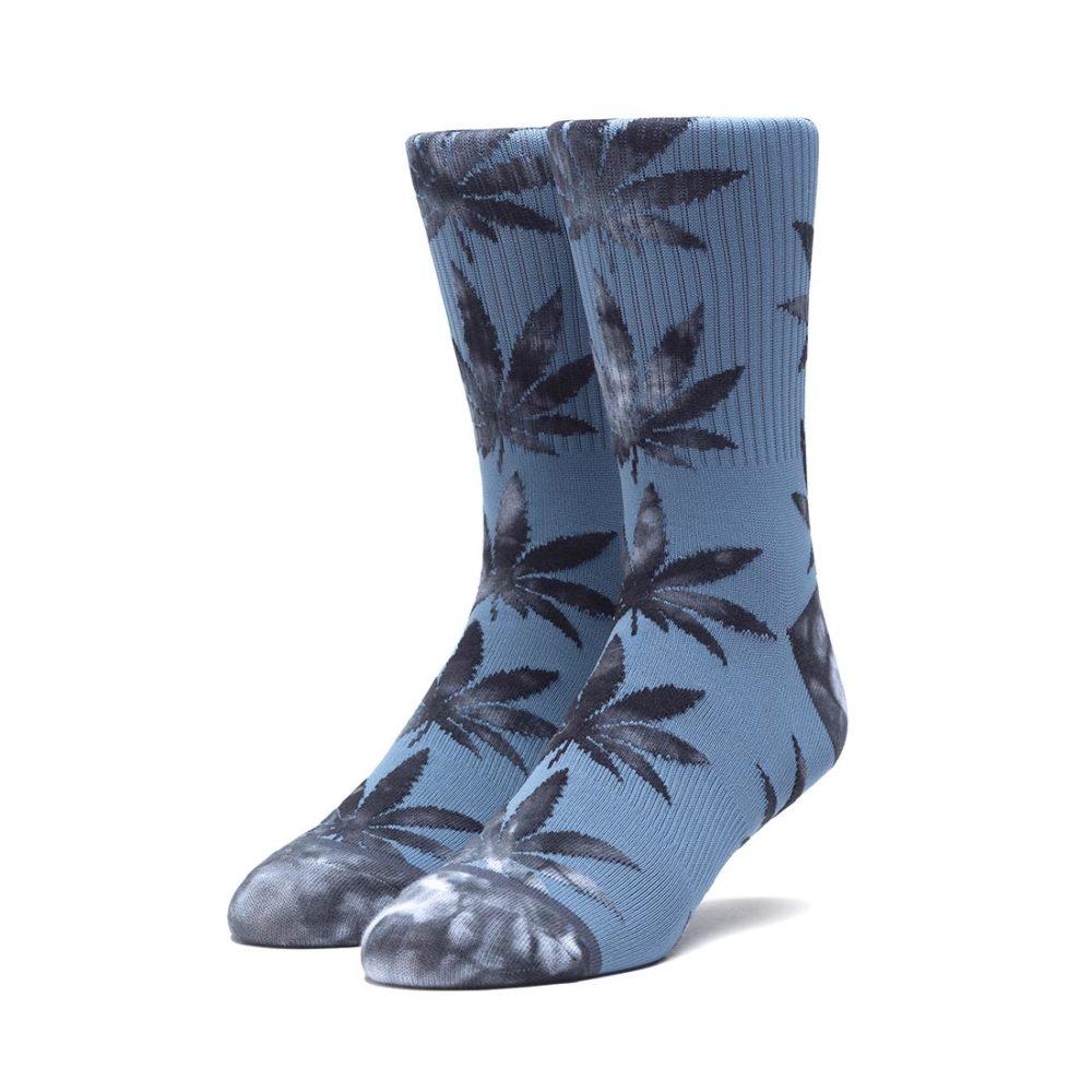 HUF Tie-Dye Leaves Plantlife Crew Socks - Blue Mirage