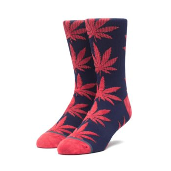 HUF Tie-Dye Leaves Plantlife Crew Socks - Dark Navy