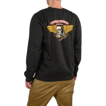 Powell Peralta Winged Ripper Crew Sweater - Black
