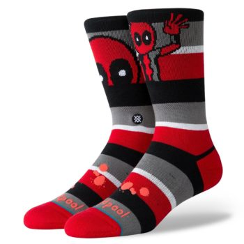 Stance Deadpool Stripe Red