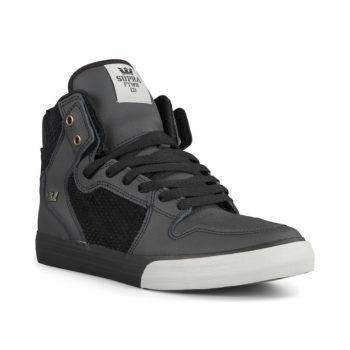 Supra Vaider High Top Shoes – Black / Lt Grey / Black