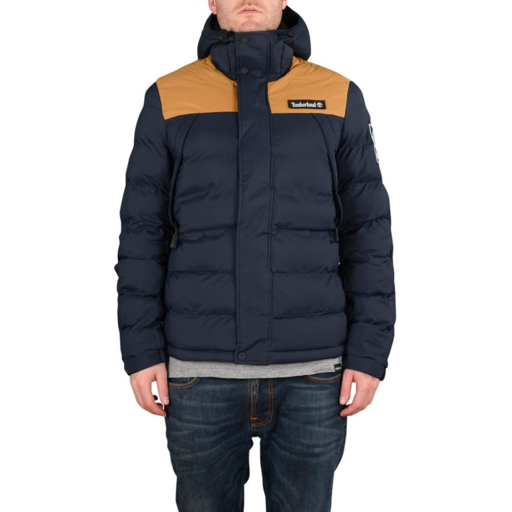 Timberland Outdoor Archive Puffer Jacket - Dark Sapphire / Wheat