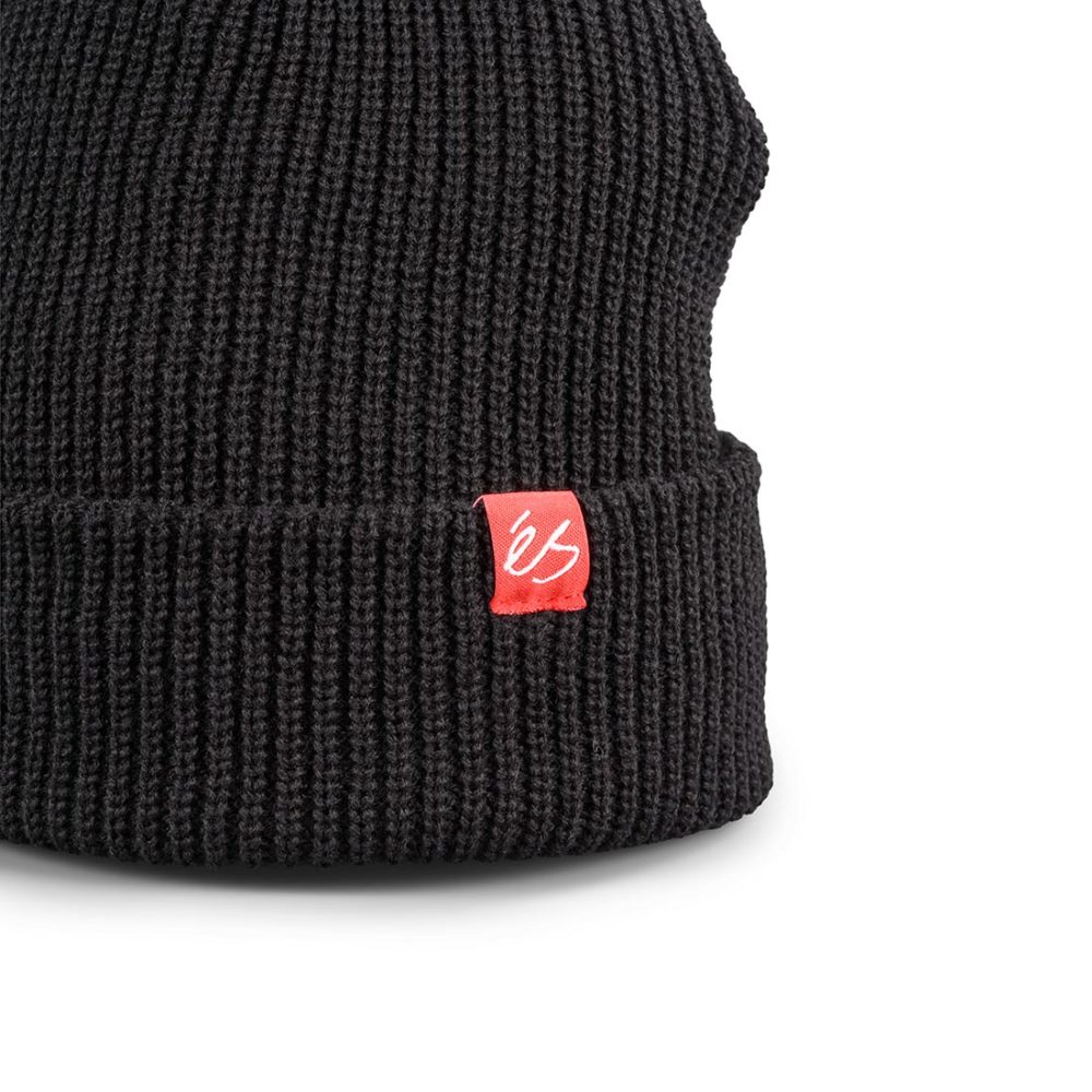 eS Block Beanie Hat – Black