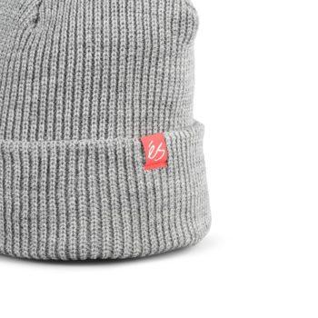 eS Block Beanie Hat – Grey / Heather