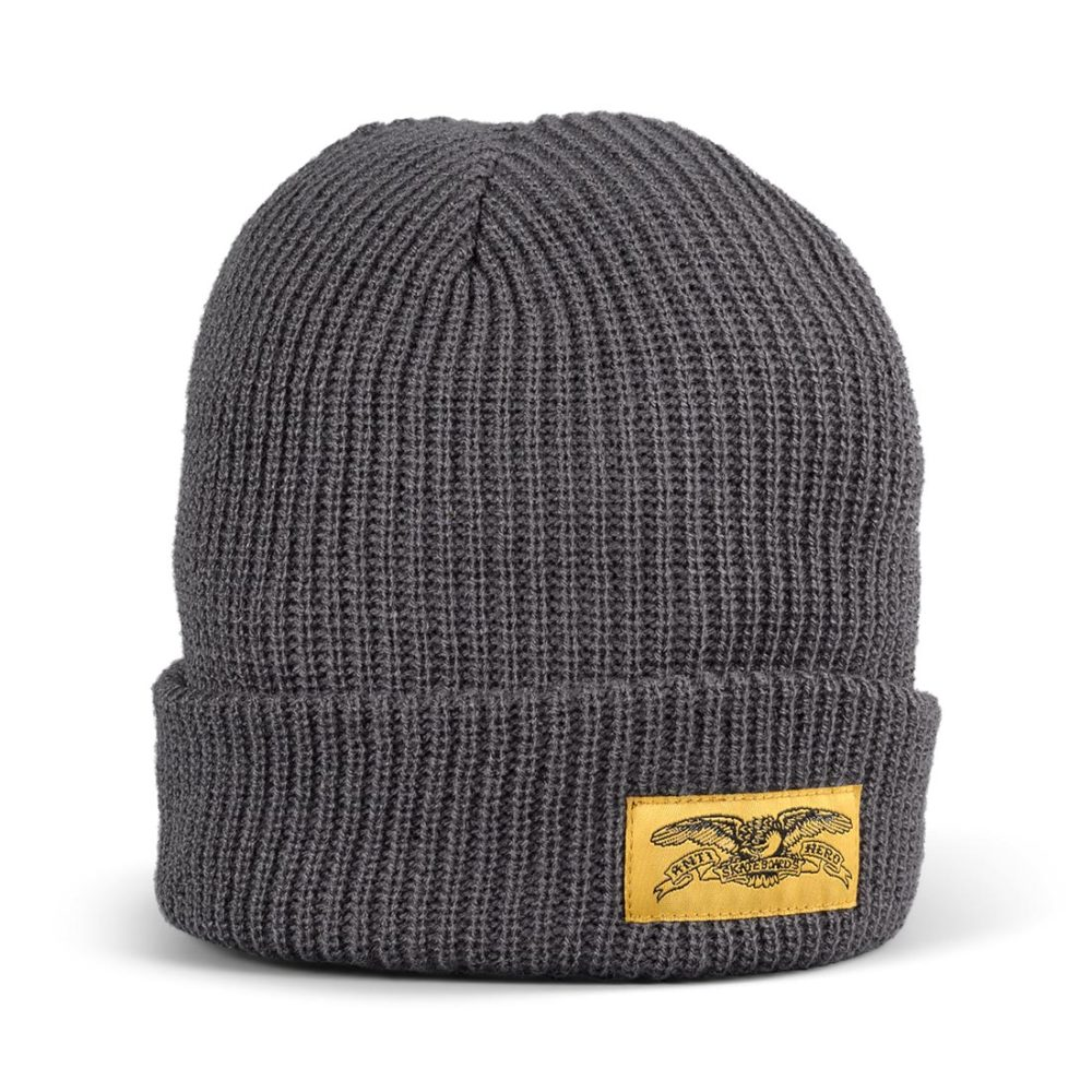 Anti Hero Stock Eagle Label Beanie Hat – Charcoal