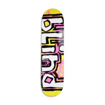 Blind OG Water Colour RHM 8″ Skateboard Deck – Pink / Yellow