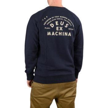 Deus Ex Machina Venice Address Crew Sweater – Midnight Blue