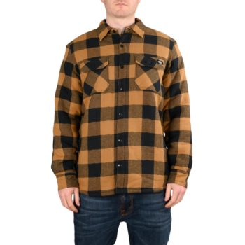 Dickies Lansdale Sherpa Lined L/S Shirt – Brown Duck
