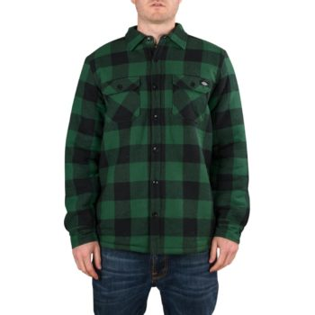 Dickies Lansdale Sherpa Lined L/S Shirt – Pine Green