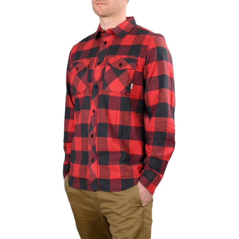 Element Tacoma 2Colours L/S Shirt – Pompeian Red