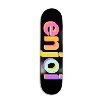 Enjoi Helvetica Neue HYB 8″ Skateboard Deck – Black / Neon
