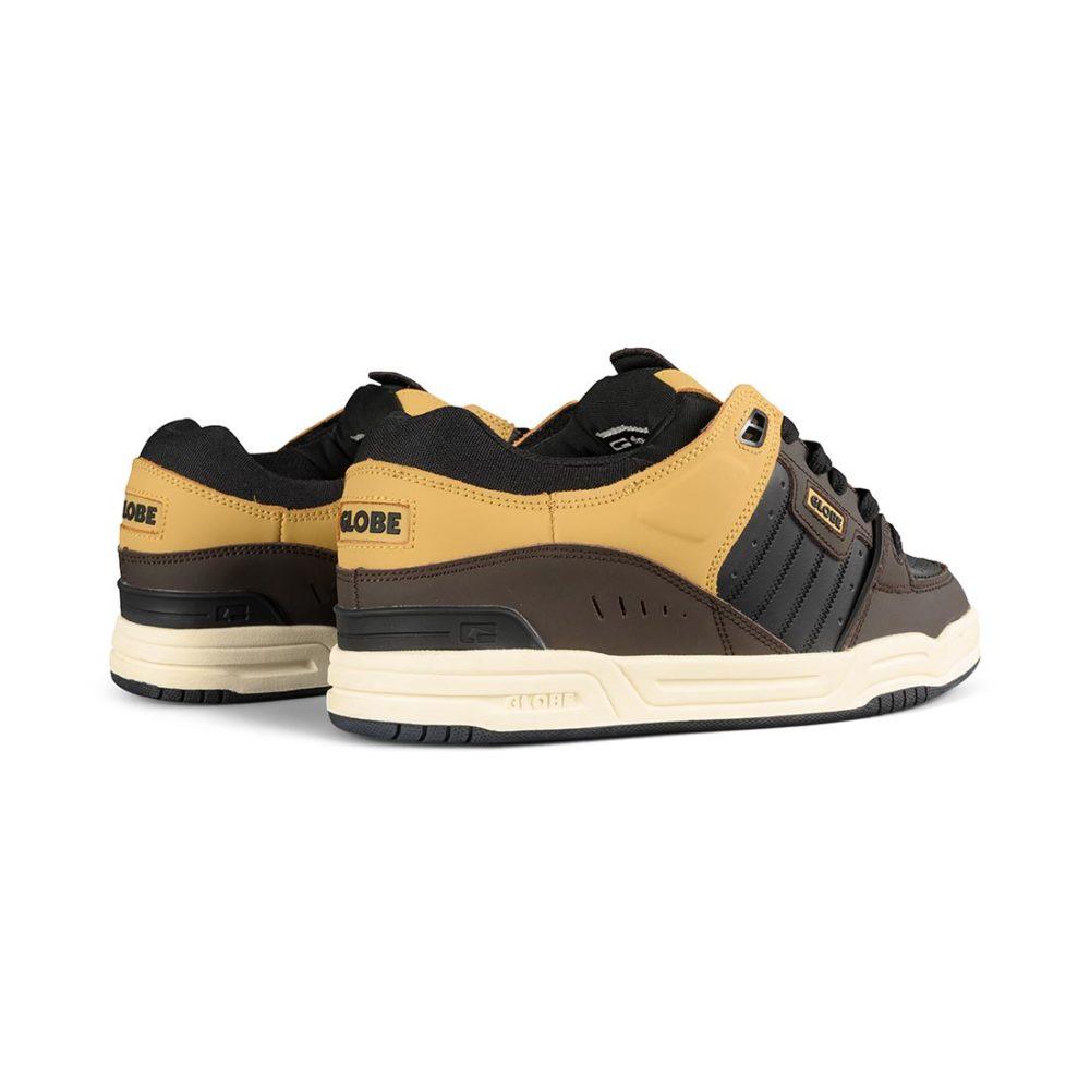 Globe Fusion Shoes – Black / Brown / Khaki