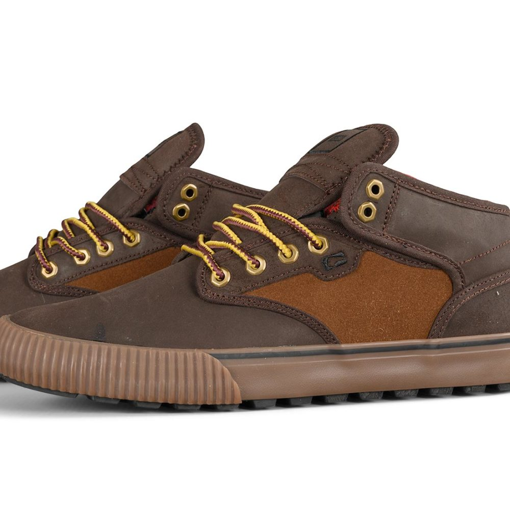 Globe Motley Mid Shoes – Brown / Tan / Plaid