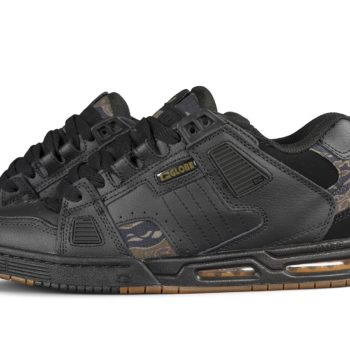 Globe Sabre Shoes – Black / Tiger Camo / Gum