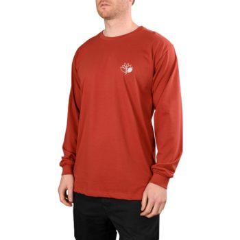 Magenta Outline L/S T-Shirt – Burgundy