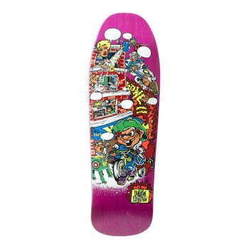 New Deal Howell Tricycle Kid SP 9.625″ Reissue Skateboard Deck – Pink