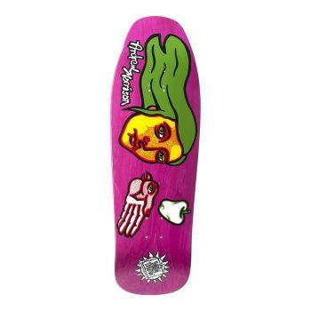 New Deal Morrison Bird Hand SP 9.875″ Reissue Skateboard Deck – Pink